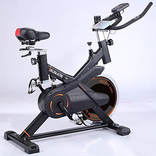 🥇 Gelusa Bicicleta de Spinning Ciclo Indoor 20 Kilos de Disco Active