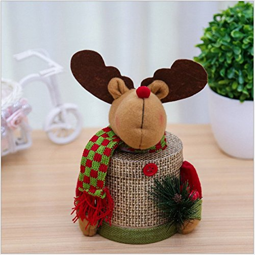 Amazon.com : Weimay Christmas Candy Jar Plastic Christmas Sugar Container Organizer Gift Box Ornaments(Deer 2) : Baby