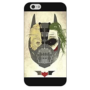 UniqueBox - Customized Personalized Black Frosted iPhone 6 4.7 Case, The Joker, Batman Logo, Batman iPhone 6 case, Only fit iPhone 6(4.7 Inch) Kimberly Kurzendoerfer