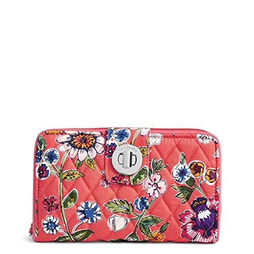 Vera Bradley Women's RFID Turnlock Wallet-Signature, Coral Floral, One Size by Vera Bradley (Image #6)