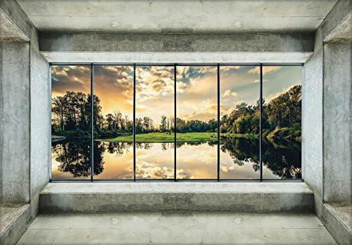 DekoShop Fototapete Landschaft Architektur Natur Wald Perspective P8  (368cm. X 254cm.) Moderne Wanddeko Wandtapete Dekoration AMD12122P8  Wallpaper Photo ...