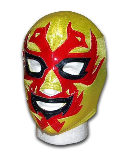 Dos Caras Oro Mexican Lucha Libre adult size wrestling mask by Luchadora by Luchadora