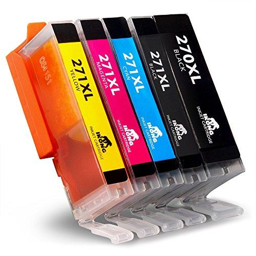5-Pack IKONG Ink Cartridge for Canon PGI-270 CLI-271 High Yield (1 Big Black,1 Small Black,1 Cyan,1 Magenta,1 Yellow) Works with Canon PIXMA TS5020 TS6020 MG5720 MG6820 MG6821 MG5721 MG6822 MG5722