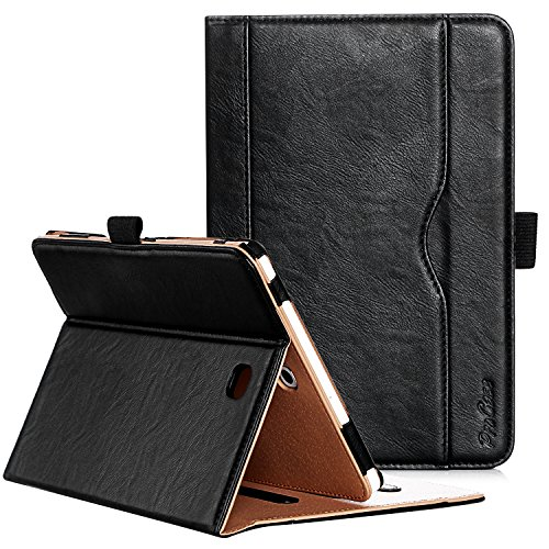 ProCase Galaxy Tab S2 8.0 Case - Leather Stand Folio Case Cover for 2015 Galaxy Tab S2 Tablet (8.0 inch, SM-T710 T715 T713) -Black (Best Case For Galaxy Tab 2)