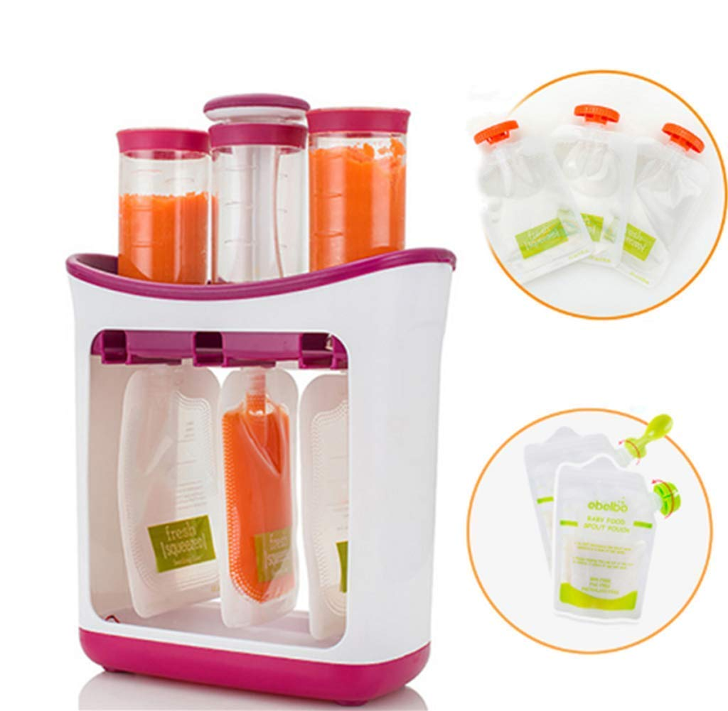 The Station for Squeezing Baby Food Comes with Reusable Bags and Spoons by ZANGZ (Image #1)