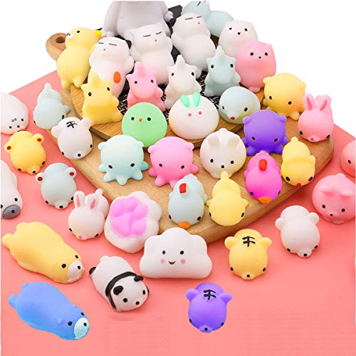 Everich Toy Stress Relief Toys Mochi Animals Squishy Toy Birthday Party Favors for Kids Mini Kawaii Squishies Animals Squeeze -