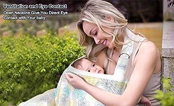 Premium Organic Bamboo Cotton Breastfeeding Cover,Multi Used for Nursing Blanket Full Coverage to Protect Your Privacy,Secret Garden BONTIME Nursing Cover