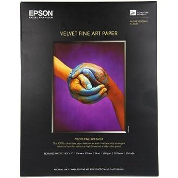 Epson Velvet Fine Art Paper (8.5x11 Inches, 20 Sheets) (S041636)