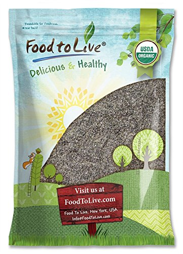 Food to Live Harina de Chia Bio certificada (Eco, Ecológico, no OGM,