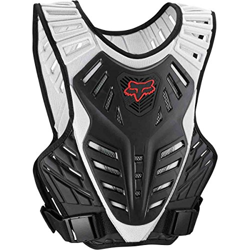 Fox Racing Titan Race Subframe Men's Roost Deflector Motocross Motorcycle Body Armor - Black/Silver / (Fox Race Frame)