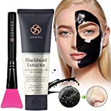 Face Mask You Can Peel Off - Black Peel off Mask,Charcoal Blackhead Remover Mask 80 gram- Deep Cleansing Mask, Deep Pore Cleanse for Acne, Oil Control, and Anti-Aging Wrinkle Reduction