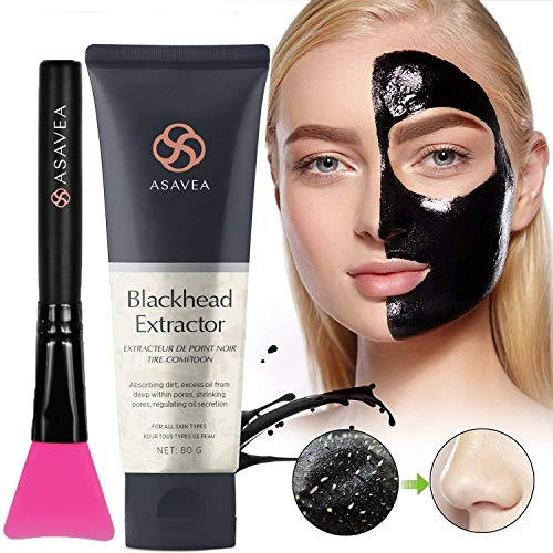 Black Peel off Mask,Charcoal Blackhead Remover Mask 80 gram- Deep Cleansing Mask, Deep Pore Cleanse for Acne, Oil Control, and Anti-Aging Wrinkle ()