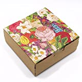 Square Rectangle 14.96mil Thick Kraft Papercoard Gift Jewellery Decorative Boxes Candy Biscuits Cosmetic Packaging Bakeware Wrapping (4.4x4.4x1.77 inch, 100 Pcs)