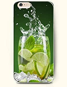 OOFIT New Apple iPhone 6 ( 4.7 Inches) Hard Case Cover - a Tumbler of Lemon Juice