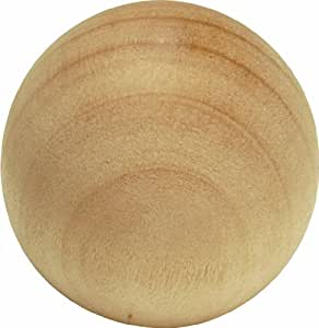 Hickory Hardware P180-UW 1-1/4-Inch Natural Woodcraft Unfinished Wood Cabinet Knob, Uned Wood