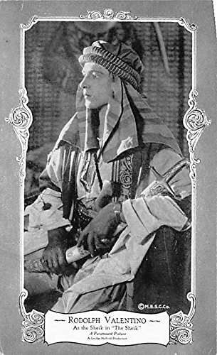 Rodolph Valentino As the Sheik in The Sheik Theater Actor / Actress Postcard