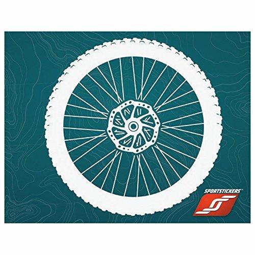 Mountain Bike Wheel/Tire Combo, Large, White, SportStickers