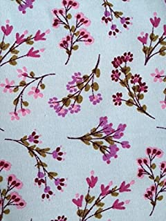 NEW Vintage PolyCotton FLORAL Fabric Cerise Pink Craft Metre Reduced Prices