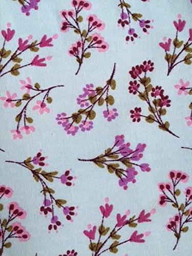 100 Cotton Pale Blue Spring Flower Fabric Perfect For Fashion Or