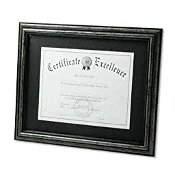 DAX : Document Frame, Desk/Wall, Wood, 11 x 14, Antique Charcoal Brushed Finish -:- Sold as 2 Packs of - 1 - / - Total of 2 Each