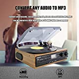 Looptone 6-in-1 Record Player with Built in