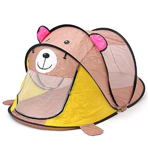 DANCHEL Cartoon Animal Toy Tents Children House Kids For Tent Indoor Outdoor Play Tent Folding Baby Tent , Grey Bear