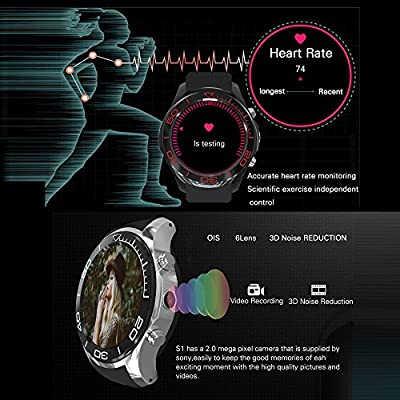 Docooler S1 Smartwatch Phone Android 5.1 Heart Rate 4GB ROM 2MP ...