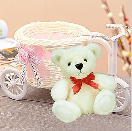 Buy Maasha Store Maasha Cycle Shape Flower Vase With Cute Teddy Bear