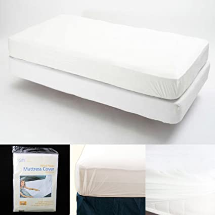 Amazoncom King Size Fitted Mattress Cover Vinyl Waterproof Bed Bug