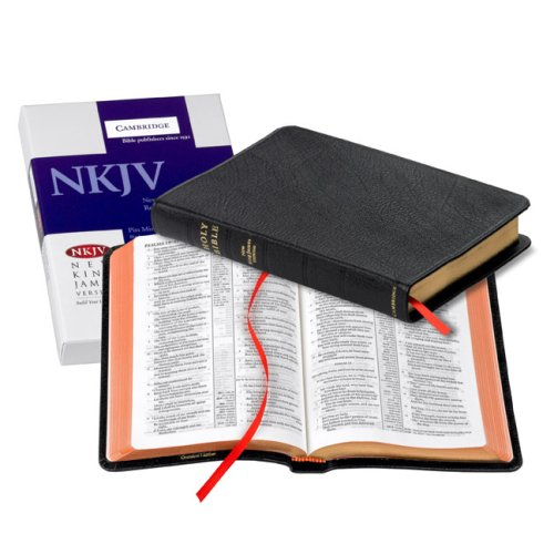 NKJV Pitt Minion Reference Bible, Black Goatskin Leather, Red-letter Text, NK446:XR
