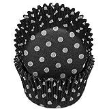 Black Polka Dot Cupcake Liners STD 50 count