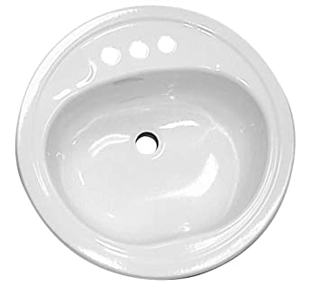 Oval Kitchen Sinks Bayside lavatory sink oval 20 x 17 bone amazon bayside lavatory sink oval 20 quot workwithnaturefo