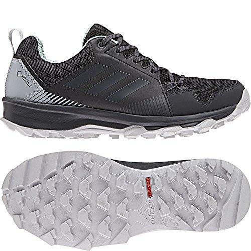 adidas outdoor Women's Terrex Tracerocker GTX W Trail Running Shoe, Black/Carbon/ash Green, 5.5 M US