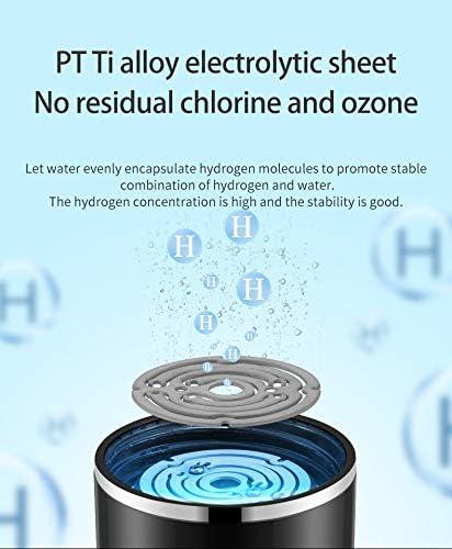 Himu, bottiglia di acqua idrogeno, ricco ionizzatore d'acqua, ricarica USB, 480 ml, in vetro, generatore di acqua per ufficio, viaggi, lavoro