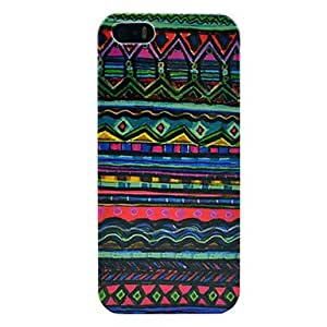 Folk Custom Pattern Plastic Protective Back Cover for iPhone 5/5S