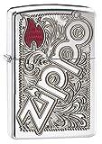Zippo ''Zippo Logo'' Armor Case Color Grav. Lighter