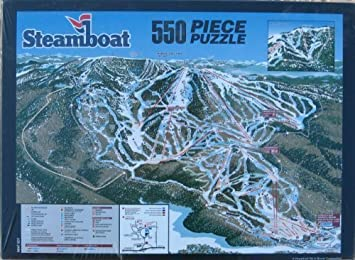 Steamboat Trail Map Collector Puzzle by Sik Area In A Box: Amazon.de ...