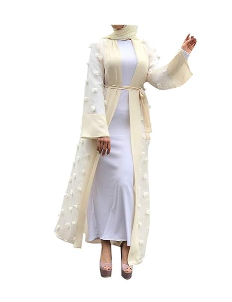 zhbotaolang Musulmán Batas Cárdigan Vestido Mujer - Arabe Moda Vestidos Medio Este Ramadan Islámico Ropa: Amazon.es: Ropa y accesorios