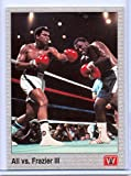 "1991 MUHAMMAD ALI ""CASSIUS CLAY"" VS. ""JOE FRAZIER III"" BOXING CARD! LEGENDS!"