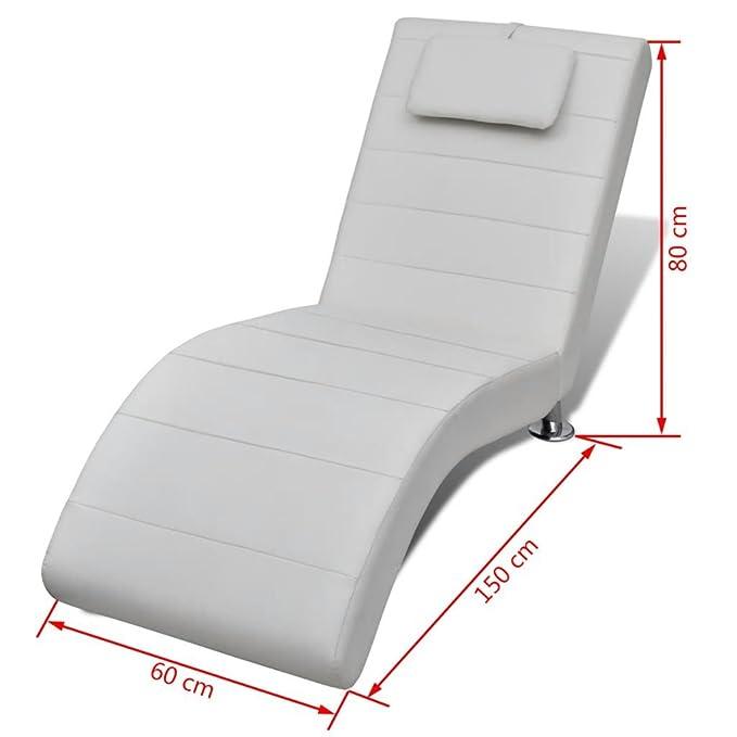Vislone Chaise Longue sillón de Relax diseño Moderna de Piel ...
