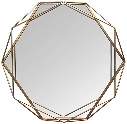 Stratton Home Décor S11541 Chloe Wall Mirror, 31.50 W X 3.15 D X 29.53 H, Gold (Mirrors Wall Home)