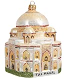 Pinnacle Peak Trading Company Taj Mahal India Polish Mouth Blown Glass Christmas Ornament Decoration