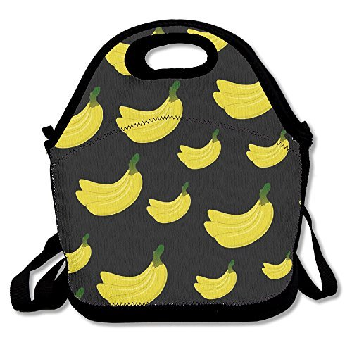 Lanch Bagbanana Black Background.PNG Convenient lunch box...