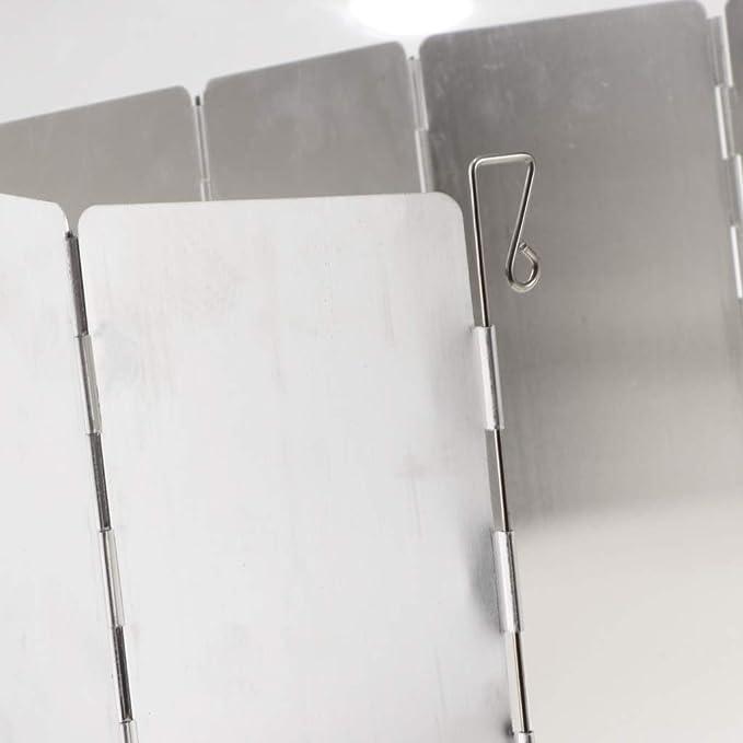 IPOTCH Pare-Brise Alliage daluminium Pliable L/éger Sac en Nylon BBQ Cuisine Camping Voyage 104 x 24cm