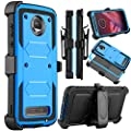 Moto Z2 Force Case, Moto Z2 Play Case, Venoro Heavy Duty Shockproof Full Body Protection Rugged Hybrid Case Cover with Swivel Belt Clip and Kickstand for Motorola Z Force 2017 by Venoro