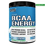 Evlution Nutrition BCAA Energy - High Performance, Energizing Amino Acid Supplement for Muscle Building, Recovery, and Endurance, 25 Servings (Natural Blue Raspberry)