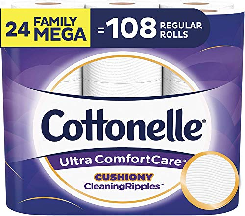 Cottonelle Ultra ComfortCare Toilet Paper, 24 Family Mega Rolls