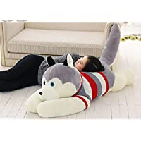Chocozone Husky Dog Soft Toy Birthday Gift for Kids- Dog Lovers, 70cm