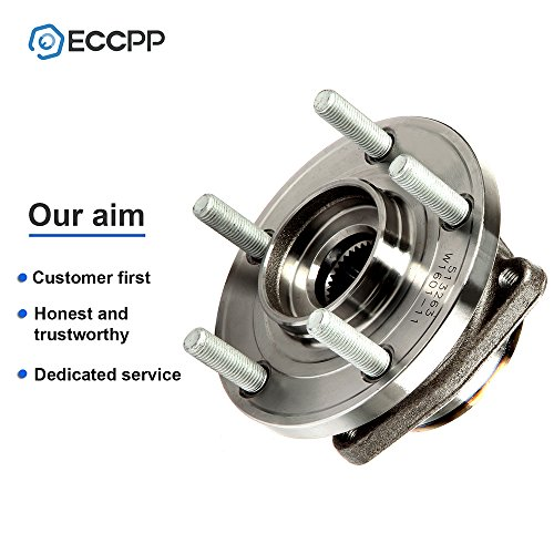 ECCPP Front Wheel Hub Bearing Assembly 5 Lugs w/ABS for 08 09 10 11 12 13 14 Dodge Avenger Caliber Compatible with 513263 HA590219 Driver and Passenger Side