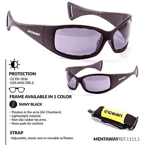 Ocean Sunglasses Mauricio - lunettes de soleil polarisées - Monture : Noir Laqué - Verres : Fumée (11111.1) J0gsCk6